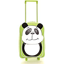 Karabar Wildlife Amigos Niños Bolsa Trolley (Verde Panda)