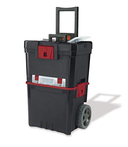 KETER Werkzeugkasten auf Rädern HAMMER MASTERCART mit Organizer (Werkzeugkasten Mit Rädern)