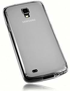 mumbi silicone TPU Coque Samsung Galaxy S4 Active - Housse skin Etui Case Protecteur Blanc transparente