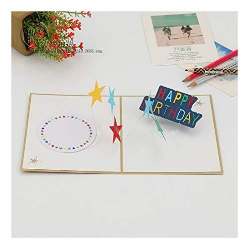 ZHOUBIN 2 fogli/set Carta tridimensionale creativa/biglietto da visita di carving di carta/pentagramma colorato/regalo di Natale di Capodanno