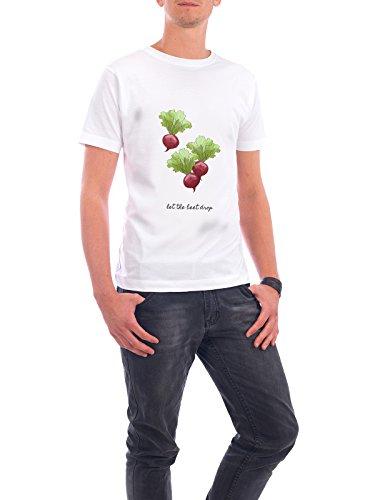 """Design T-Shirt Männer Continental Cotton """"Let the Beet Drop"""" - stylisches Shirt Typografie Essen & Trinken Musik von Paper Pixel Print Weiß"""