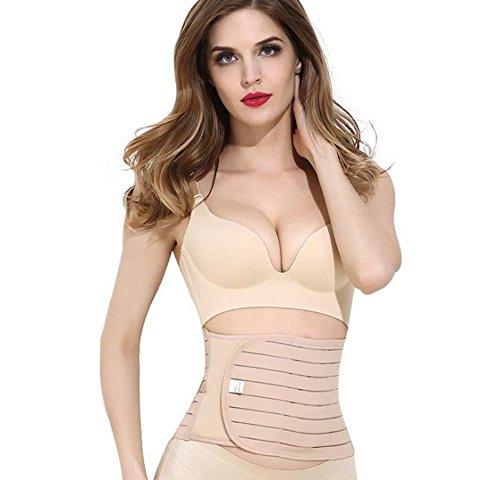 SiaMed Bauchweggürtel für Damen und Herren - Taillenformer - perfekte Abnehmhilfe für einen Straffen Bauch (beige, 85 cm)