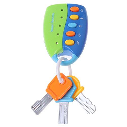 Kofun musical car key, le voci intelligenti dell'automobile di telecomando del giocattolo del bambino del giocattolo musicale chiave del bambino fanno finta il giocattolo di istruzione del gioco blu