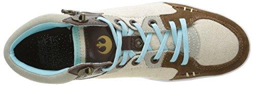 Kickers Luke M High, Sneakers Hautes homme Blanc Cassé (Camel/Blanc Cassé)