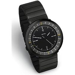 MONDO BLACK EDITION, Dual Timer Men's Watch by Botta Design (Steel Strap) - 269011BE
