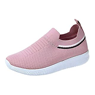 Moonuy Summer Womens Outdoor Mesh Sport Shoes Runing Breathable Shoes Sneakers for Women Ladies Flat Sneakers Sport Elegant Shoes Maid Mesh Vintage Outdoor Sport Shoes Pink