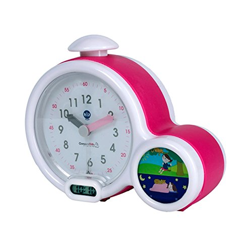 Claessens 'Kids ksmfacp Kid sleep clock, mon premier réveil, rose.