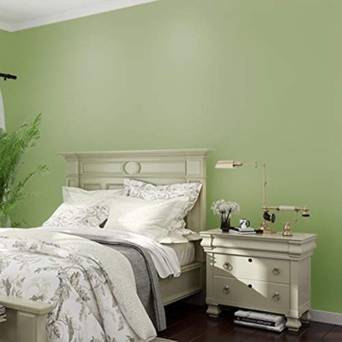 Colore puro del pigmento semplice carta da parati soggiorno camera da letto blu grigio chiaro carta da parati verde chiaro Q2 0,53 m * 9,5 m