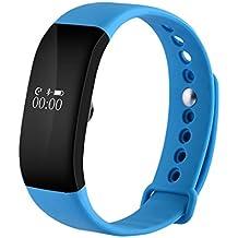 V66 Smartband Bluetooth Sport Smart Watch IP67 Impermeabile cardiofrequenzimetro Wristband Smart braccialetto di salute per Android IOS , Blue