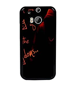 PrintDhaba Quote D-3474 Back Case Cover for HTC ONE M8 EYE (Multi-Coloured)