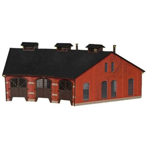 Kibri - 3-Stall Roundhouse/Engine Shed Kit - HO by Kibri