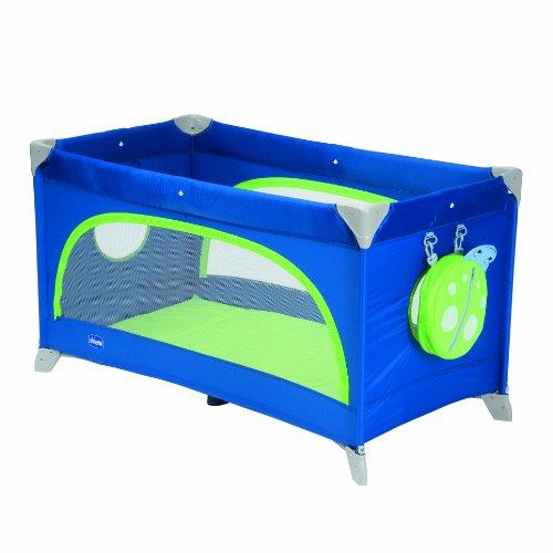 Imagen para Chicco 6079005800000 Spring - Cuna de viaje con colchón y bolsa de transporte, incluye mochila infantil, color azul
