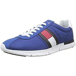 Tommy Hilfiger Retro Lightweight Sneaker, Zapatillas para Hombre, Azul (Monaco Blue 408), 41 EU
