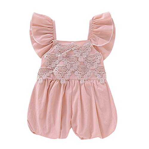 Baby Jumpsuit Toddler Ruffled Lace Romper Jumpsuit Harem Casual Clothes -
