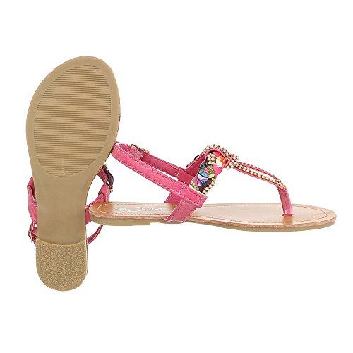 Ital-Design , Escarpins peep-toe femme rose bonbon
