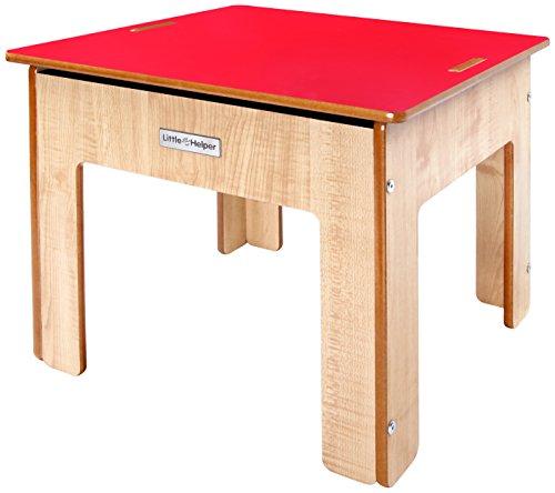 Little Helper bcfpt01 - 1-it Funpit Set 3 en 1 Table de jeu avec sable et tableau réversibles en bois 36 Mesi rouge