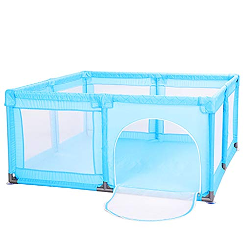 WYQ Laufgitter Blue Baby Zaun Spielplatz Set (Baby Laufstall, Krabbeldecke) Sicherheit Spielplatz für Babys und Kinder (4 Größen zur Auswahl) Laufstall (Farbe : Blau, größe : 150×190x70cm)