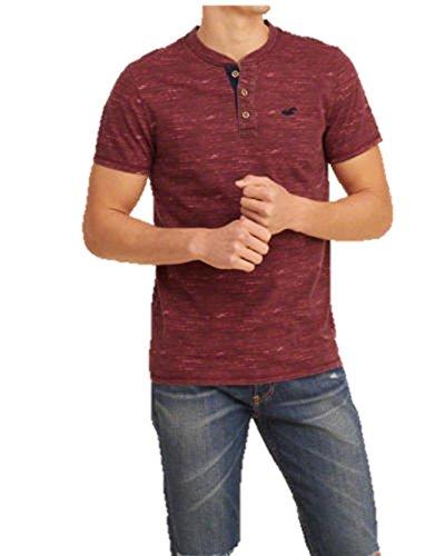 new-hollister-burgundy-textered-henley-t-shirt-tee-top-small-s-graphic-festival-shirt-men-blue