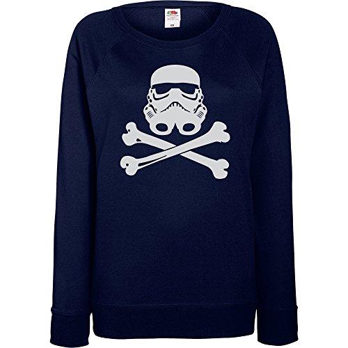 TRVPPY - Sweat Pull, modèle Trooper Skull Storm- Femme, différentes tailles et couleurs Bleu Marine