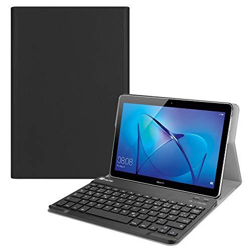 """Fintie Huawei Mediapad T3 10 Bluetooth Tastatur Hülle - Ultradünn leicht Ständer Schutzhülle mit magnetisch Abnehmbarer drahtloser Deutscher Tastatur für 9,6\"""" Huawei MediaPad T3 24,3 cm, Schwarz"""