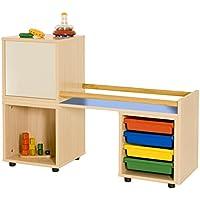 mobeduc für Erste Schritte, Holz, Lavendel blau, 118x 86x 40cm preisvergleich bei kinderzimmerdekopreise.eu