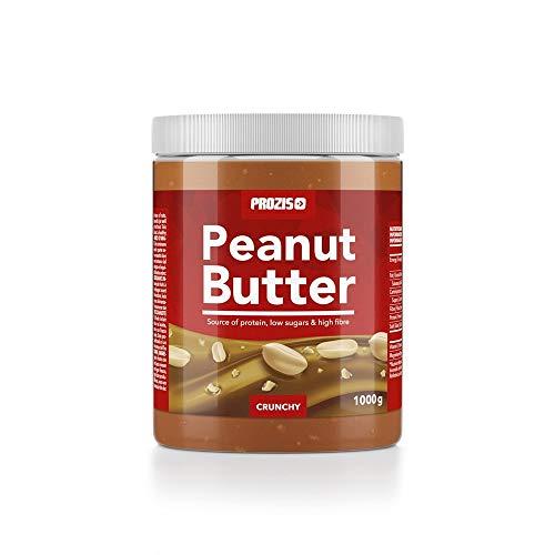 Prozis burro d'arachidi 1kg - consistenza deliziosa & croccante - fonte naturale di proteine - adatto a diete vegane, kosher e halal - senza sale o grassi trans aggiunti