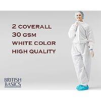 بدلة واقية طبية عازلة للاستعمال مرة واحدة - ثوب - غطاء كامل - درجة PPE - قطعة واحدة - الإسعافات الأولية الأطباء الممرضات لا لوازم مستشفيات اللاتكس - مقاس حر - قطعتين