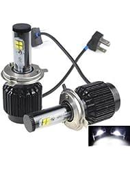 K-NVFA Linterna de Cabeza Coche Impermeable 6000K/8000K/5000K H4 , 8000k KK-V- 4166