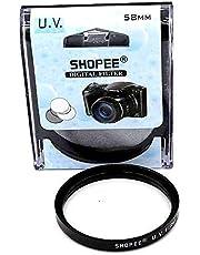 SHOPEE 58MM SAFTEY UV LENS FILTER FOR CANON EOS 18-55MM 55-250MM 1100D 500D 5D 450D 600D 650D 1200D 1000D 58MM …