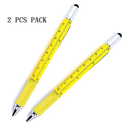 Nützlicher Multifunktions-Werkzeug Stift, 2/3 Pcs 6-in-1 Kugelschreiber mit Lineal Levelgauge...