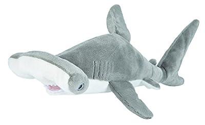 Wild Republic 22486 Hammerhead Shark Plush Soft Toy, Grey/White, 30 cm