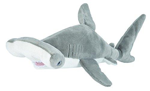 Wild Republic 22486 Plüsch Hammerhai, Cuddlekins Kuscheltier, Plüschtier, 30cm, grau-weiß, 35_cm