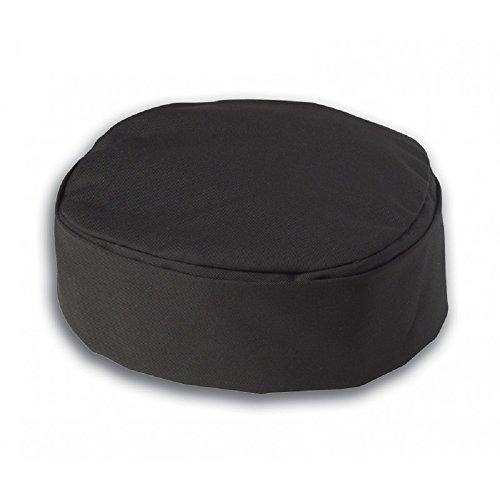 Schwarz Köche Hat, rund Skull Cap, Unisex, Polycotton, Größen erhältlich: S, M, L, XL. ins13b, Schwarz, INS13B