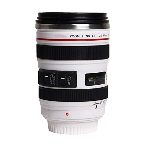 DoMoment Mode 1 Stücke Durable DIY Edelstahl Isolierflaschen Reise Kaffeetasse Tasse Wasser Kaffee Tee Kamera Objektiv Tasse Mit Deckel Geschenk