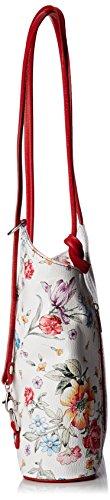 Chicca Borse 80056, Borsa a Spalla Donna, 27x30x9 cm (W x H x L) Multicolore (Fiori/Rosso)