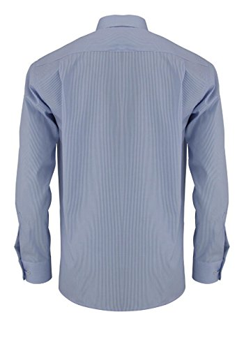 comfort fit'chemis'à manches longues pour homme Bleu - Bleu