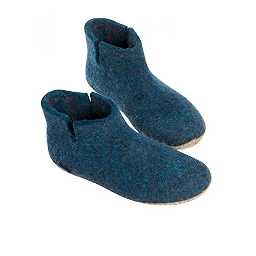 Glerups G-01-00 Pantofole In Feltro Per Adulti Unisex Nere