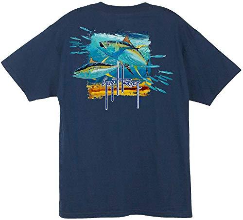 Epsion Guy Harvey MTH1764 Men's Tuna Splash Short Sleeve T-Shirt (Guy Harvey-t-shirt)