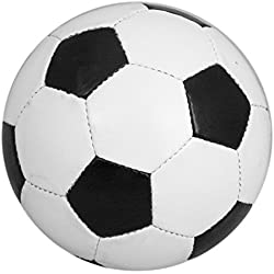 Traditional Size 5 Black And White Leather Football by Carousel