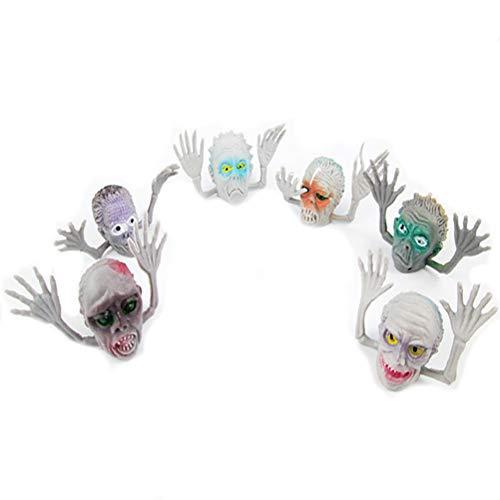 HUPLUE 12Halloween Horror Ghost Head Fingerpuppe, Ghost Story Requisiten, Party Supplies Ghost fingerabdeckung