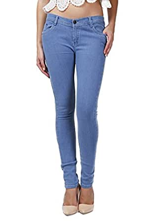 Miss Wow Basic Ice Blue slim fit denim jeans for Women