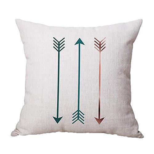 Dragon868 Kissen Hülle Geometrische Muster Tiermalerei Leinen Pillowcase Dekorative Kissen Abdeckungen 45x45 cm (Dekorative Kissen Winter)