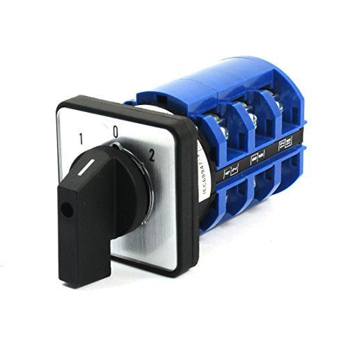 Sourcingmap® 660V 63A 3Position 3 Phasen Universal Drehen Kolbe Umstellung Schalter CA10-63 de (Schrauben Körper Berg)