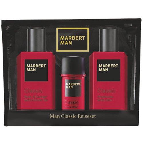 Marbert Man Classic Travel Set -100 ml Shower Gel + Body Lotion + Cream Deo