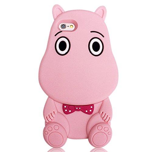 �lle für iPhone-Modelle, süße 3D- Zeichentrick-Tiere, weiche TPU-Gel-Schutzhülle, mit EatMyCase®-Eingabestift ()