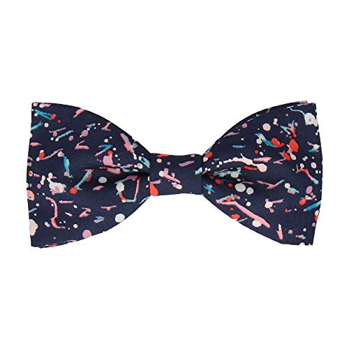 Mrs Bow Tie Liberty Dot Fliege, Selbstbinde Fliege - Navy Blau Dot Self-tie Bow
