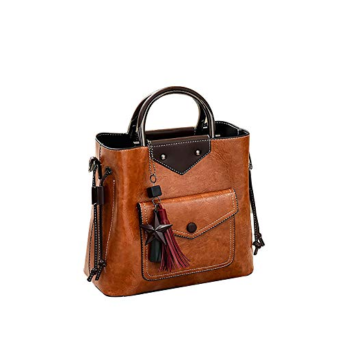 TianWlio Damen Klassische Handtasche Große Tasche Quaste Anhänger Handtasche Beiläufig Tasche Schulter Diagonalpaket Handtasche Winged Schultertasche Groß Umhängetasche Taschen