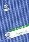 Avery Zweckform© 1222 Fahrtenbuch, DIN A5, steuerlicher km-Nachweis, 32 Blatt, weiá