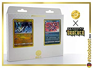 Kyurem 47/70 Holo Y Trikephalo (Hydreigon) 33/70 Holo - #tooboost X Sonne & Mond 7.5 Majestät Der Drachen - Box de 10 Cartas Pokémon Alemán + 1 Goodie Pokémon
