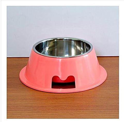 Bols bol pour animaux de compagnie chiens et chats bol de riz bol bols chats fournitures pour chien oreille casseroles, Rose